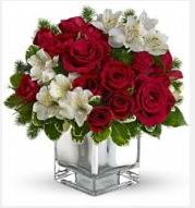 11 adet kırmızı gül ve beyaz kır çiçekleri  Ankara 14 şubat sevgililer günü çiçek