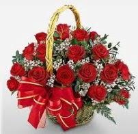 17 adet kırmızı gülden gül çiçek sepeti  Ankara hacettepe çiçek mağazası , çiçekçi adresleri