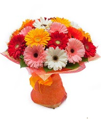 Renkli gerbera buketi  Ankara anneler günü çiçek yolla