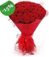 51 adet kırmızı gül buketi özel hissedenlere  Ankara lalegül çiçek siparişi sitesi