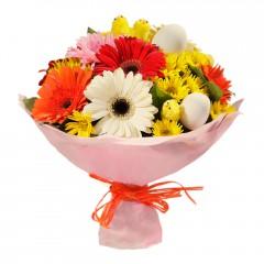 Karışık mevsim buketi Mevsimsel çiçek  Ankara şentepe internetten çiçek siparişi