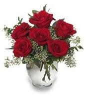 Vazo içerisinde 5 adet kırmızı gül  Ankara gazi mahallesi çiçekçi mağazası