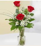 Vazo içerisinde 3 adet kırmızı gül  Ankara gimat çiçek satışı