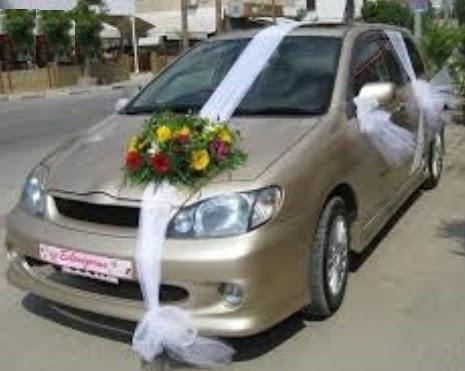 Ankara batıkent çiçek yolla  sade gelin arabası süslemesi