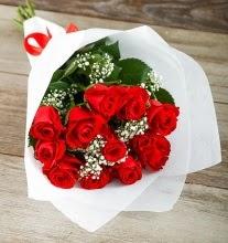 9 kırmızı gülden buket çiçeği  Ankara sincan çiçek gönderme