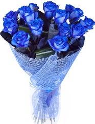 9 adet mavi gülden buket çiçeği  Ankara ivedik hediye çiçek yolla