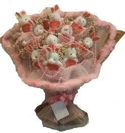 12 adet tavşan buketi  Ankara hacettepe çiçek mağazası , çiçekçi adresleri