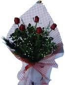 Ankara gazi mahallesi çiçekçi mağazası  5 adet kirmizi güllerden buket