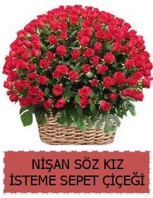 Kız isteme söz nişan çiçeği Sepeti 91 güllü  Ankara ostim çiçek gönderme sitemiz güvenlidir
