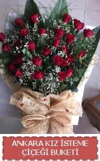 Kız isteme çiçeği kız isteme buket modeli  Ankara şentepe internetten çiçek siparişi