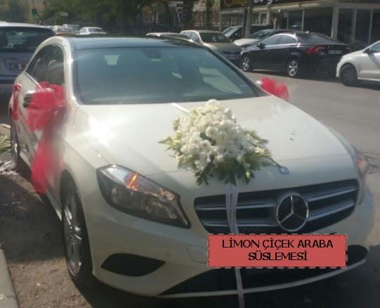 Araba süslemesi gelin arabası süsleme modeli  Ankara gimat çiçek satışı