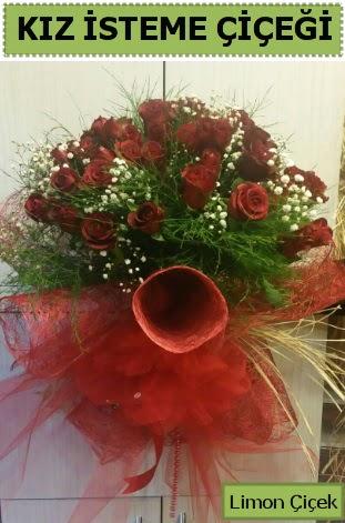 41 adet kırmızı gülden kız isteme buketi  Ankara gimat çiçek satışı