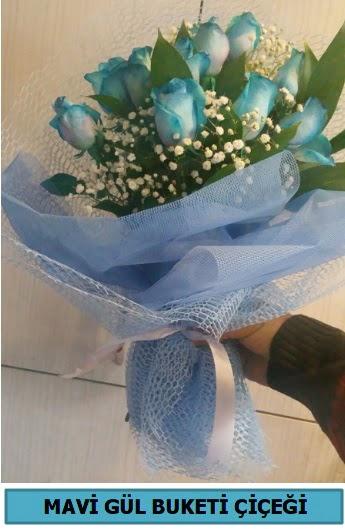 12 adet mavi gülden mavi buket  Ankara eryaman çiçekçi telefonları