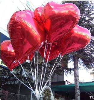 8 adet folyo kalp uçan balon  Ankara demetevler ucuz çiçek gönder