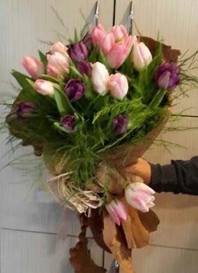 20 adet lale buketi çiçeği  Ankara ivedik hediye çiçek yolla