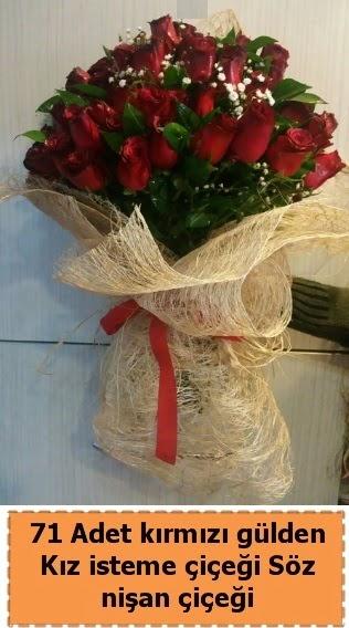 71 adet kırmızı gül söz nişan çiçeği  Ankara gimat çiçek satışı