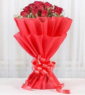 12 adet kırmızı gül buketi  Ankara ivedik hediye çiçek yolla