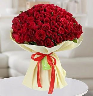 101 adet kırmızı gül buketi koca demet  Ankara şentepe internetten çiçek siparişi