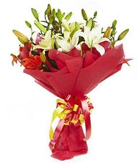 5 dal kazanlanka lilyum buketi  Ankara ostim çiçek gönderme sitemiz güvenlidir