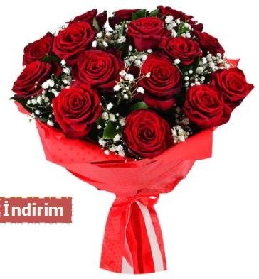 12 Adet kırmızı aşk gülleri  Ankara gimat çiçek satışı