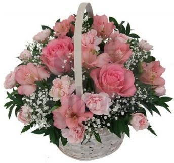 Karışık mevsim sepeti  Ankara ivedik hediye çiçek yolla