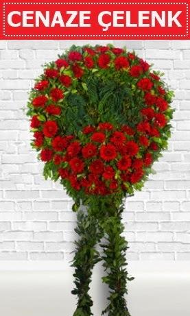 Kırmızı Çelenk Cenaze çiçeği  Ankara yenimahalle İnternetten çiçek siparişi