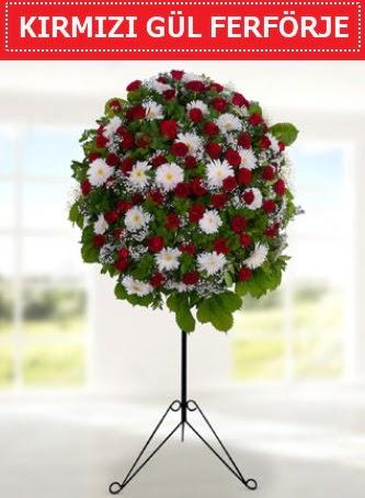Kırmızı gül ferförje 40 adet gül ve gerbera  Ankara batıkent çiçek yolla