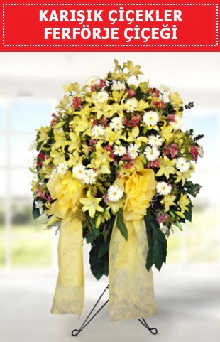 Karışık mevsim çiçeklerinden ferförje  Ankara karacakaya internetten çiçek satışı