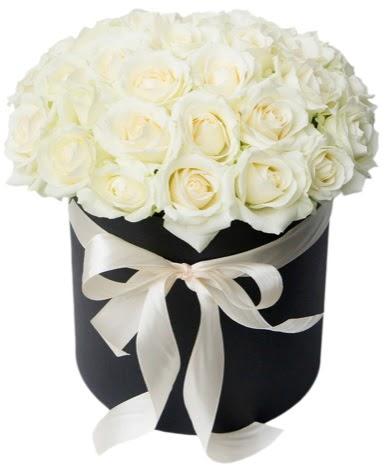 41 adet özel kutuda beyaz gül  Ankara gimat çiçek satışı  süper görüntü